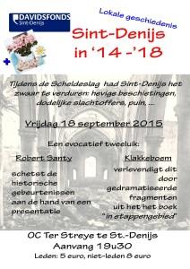 uitnodiging Sint Denijs in 14 18 affiche en flyer