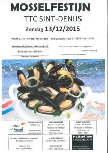 Mosselfestijn TTC Sint-Denijs 13.12.2015